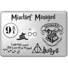 Harry Potter Decal Set Apple Macbook Laptop Vinyl Sticker Decal ❤ liked on Polyvore featuring accessories, tech accessories, laptop, harry potter and other