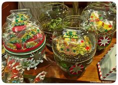 Decoración para tarros de cristal. Anaquiños de papel: Packaging navideño para Bombonería Praliné
