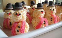 Rice Crispy Snowmen!