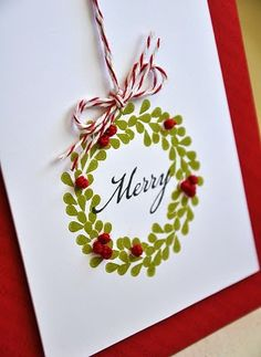 "Hmm... I'm thinking finger prints and pompoms: Christmas cards for the ""grandmas & grandpas""."