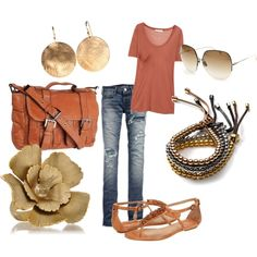 Mmmm...love this rust color!  super casual and classy!
