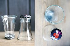 Turn old beer bottles into shot glasses with this tutorial.