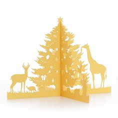 African Christmas Three Dimensional Fold Out Tree African Christmas, Three Dimensional, Third, Moose Art, Animals, Animales, Animaux, Animal, Animais