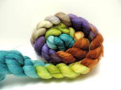 merino superwash nylon top handpainted fiber for by Elfenwolle, €10.90