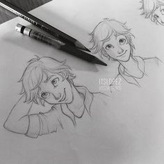 Image about drawing in Miraculous Ladybug by CartoonGirl Amazing Drawings, Cool Drawings, Drawing Sketches, Amazing Art, Sketching, Male Drawing, Art Du Croquis, Ladybug And Cat Noir, Poses References