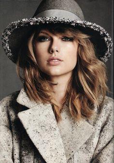 jil sander #coat x eugenia kim #hat :: Taylor Swift for FASHION Magazine (@fashionmagazine), November 2014