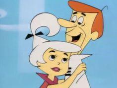 George and Judy Jetson | Com a ajuda de Jane, George Jetson cuida dos filhos Judy e Elroy