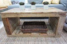 Build a simple coffee table with a few supplies and reclaimed wood. Reclaimed Wood Projects, Reclaimed Wood, Diy Pallet Furniture, Pallet Wood Coffee Table, Simple Coffee Table, Home Made Simple, Coffee Table Wood, Home Decor, Reclaimed Wood Coffee Table