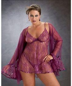 74c022532f Princess Badydoll Coat Lace Plus Size Lingerie Purple Lingerie Plus