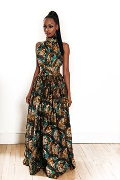 African print dress by MelangeMode on Etsy, $165.00