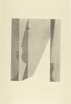 """Oskar SchlemmerPortfolio """"Jeux de têtes"""" / """"Play on heads""""Vers / Circa 1920 (Publié en / Published in 1923)(Via MoMA: http://www.moma.org/collection/browse_results.php?object_id=68012)"""