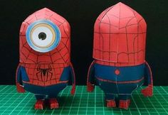 Spider-Minion Paper Toy - by Rickie & Paper Replika  - == -  Based in an original paper model by Julius Perdana, from Paper Replika website, Rickie created this funny Spider-Minion.