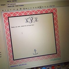 Monogrammed email stationary is my favorite way to add a personal touch to an email!