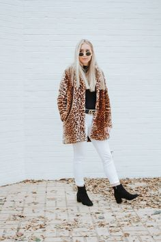 How to Style a Faux Leopard Jacket - Blue Eyed Blondie - Madison Banks - Fall and Winter Fashion Trends