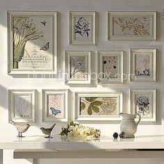Country Style Coleção Photo Frame parede - conjunto de 10 - BRL R$ 293,02