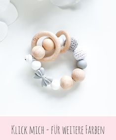 Handgemachtes Baby, Baby Kind, Baby Toys, Teething Bracelet, Dummy Clips, Baby Teethers, Handmade Baby, Bead Earrings, Knit Crochet