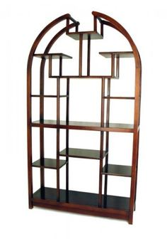 Wayborn Furniture 5704 Display Unit Etagere, Dark Brown by Wayborn Furniture. $549.00. Finish/Color:Dark Brown This classic wooden display unit is the perfect piece for family rooms, living rooms, or bedrooms. Featuring a semicircle theme, this display unit has many compartments for displaying photographs, figurines and trinkets. This beautiful wooden display unit is hand crafted and sure to add that little bit of flair to tie your space together.