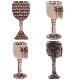 Find skull clothing and accessories for men and women Medieval Renaissa... New items added daily http://rebelstreetclothing.com/products/medieval-renaissance-3d-skeletal-skull-wine-goblet-bones-skull-armor-cup-drinking-goblet-wine-chalice-resin