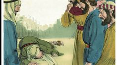 Una vicenda alquanto strana quella di Anania e Saffira, che per una faccenda di denaro e aver mentito agli apostoli cadono a terra morti.