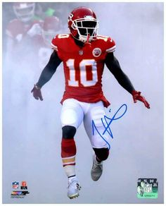 Tyreek Hill Signed Black Custom PEACE! 16x20 METALLIC