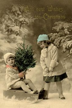 beautiful vintage Christmas card