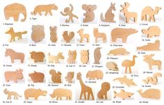 ANY 2 wooden animals Organic wooden toy handmade wooden