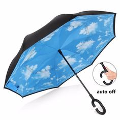 Double Layer Inverted Inverted Umbrella Is Light And Sturdy Christmas Background Decorations Gift Boxes On Reverse Umbrella And Windproof Umbrella Ed