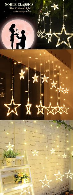 US$17.33 + Free Shipping.  2.5M 110-220V LED Star String Lights. 8 colors avavilable.  Decorate your room with these lights. Shop at banggood.#homedecor#halloween#star Sphere Light, Lamp Light, Light Decorations, Wedding Decorations, Decorating Your Home, Decorating Ideas, Decor Ideas, Star String Lights, Christmas Baby