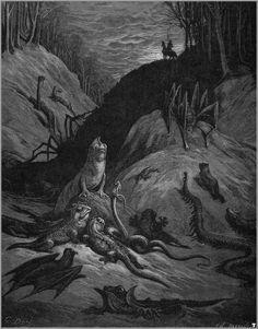 The 19th century illustrator whose imagination fueled the work of H.P. Lovecraft. Je ne sais pas si c'est vrai mais Doré est extraordinaire.