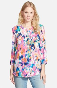 D1 -88 NYDJ+Henley+Blouse+(Regular+&+Petite)+available+at+#Nordstrom