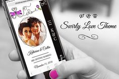 Swirly Wedding Gay Marriage Theme by Christina Creative on @creativemarket