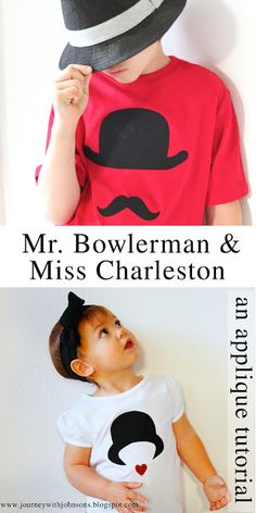 Sweet Dreams are Made of These: Mr. Bowlerman & Miss Charleston - an applique tutorial