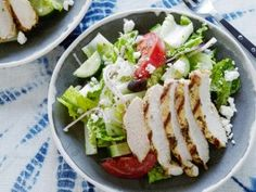 Greek Salad with Oregano Marinated Chicken : Recipes : Cooking Channel - Dave Lieberman
