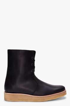 PIERRE HARDY Black Shearling Mat Boots
