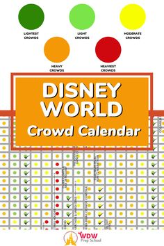 If you are planning a vacation to Disney World you'll want to check out our FREE CROWD CALENDAR. This handy tool will show you the best (least crowded) as well as the worst (most crowded) times to visit Walt Disney World. Disney World Secrets, Disney World Hotels, Disney World Food, Disney World Magic Kingdom, Disney World Planning, Walt Disney World Vacations, Disney World Tips And Tricks, Disney Trips, Disney Crowds