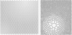How to merge a Hexagonal pattern with a Voronoi pattern? - Grasshopper