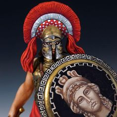 Greek Officer w/Sword - Greek Warriors - Greek Empire 500 BC - 300 BC - Ancient World - The St. Greek Soldier, Greek Warrior, Classical Antiquity, Greek History, Alexander The Great, Figure Model, Bronze Age, Ancient Greece, Greek Mythology