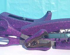 Purple Glitter Office Supplies, Purple Tape Dispenser, Purple Stapler,  Staple Remover, Classroom