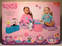 My Life As 18 inch American Girl Doll Living Room Chair Sleeper Sofa Couch Set,TV