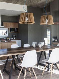 Modern Home Decor Interior Design Home Decor Kitchen, Kitchen Interior, Rustic Kitchen Cabinets, Dinner Room, Modern Interior Design, Furniture Design, Interior Decorating, Room Decor, Industrial