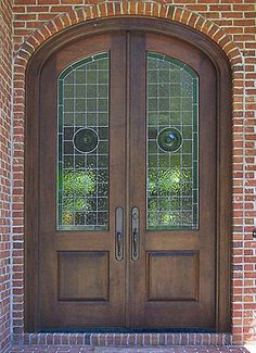 Leaded Glass Doors
