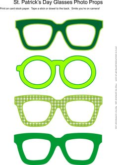 St. Patrick's Day Glasses Photo Booth Props