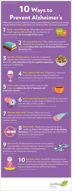 10 Ways To Prevent Alzheimers Infographic: