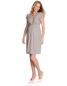 Blush Polka Dot Knot Front Maternity Dress. Dresses For Baby ShowerDresses  ...