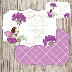 Butterfly Invitations GARDEN Butterfly Vintage Princess Theme Girl