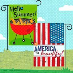 Holli Conger Garden & House Flags Heart For Kids, House Flags, Hello Summer, Art Studios, Big Kids, Over The Years, Garden, Products, Garten