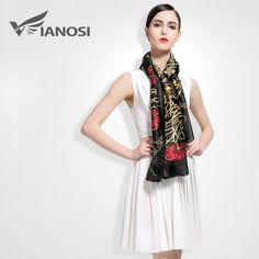 Silk Scarves Shawl High Quality Print Bandana => Save up to 60% and Free Shipping => Order Now! #fashion #product #Bags #diy #homemade