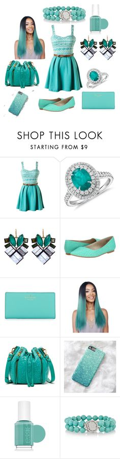 """""""Untitled #5"""" by medux-pagalvok on Polyvore featuring Blue Nile, Nak Armstrong, BC Footwear, Kate Spade, Joelle Hawkens by Treesje, Essie and Kimberly McDonald"""