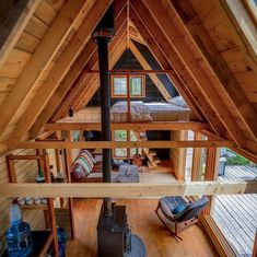 Cabin Loft, Tiny House Cabin, Tiny House Living, Cabin Homes, A Frame Cabin, A Frame House, Ravens Home, Cabin Interiors, Tiny House Movement