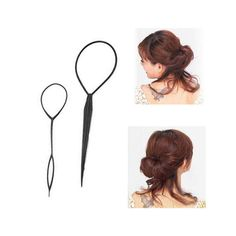 2pcs/set Portable Hair Disk Twist Wear Hair Sticks DIY Women Hair Style Styling Tool Accessory Random Color